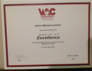 James Michael Lemmer | Award-of-Excellence-2008