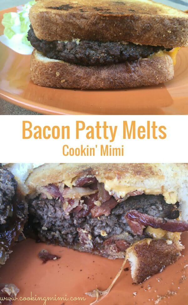 Bacon patty melts are a cross between a bacon burger and a grilled cheese. Enjoy for #SundaySupper all year long.