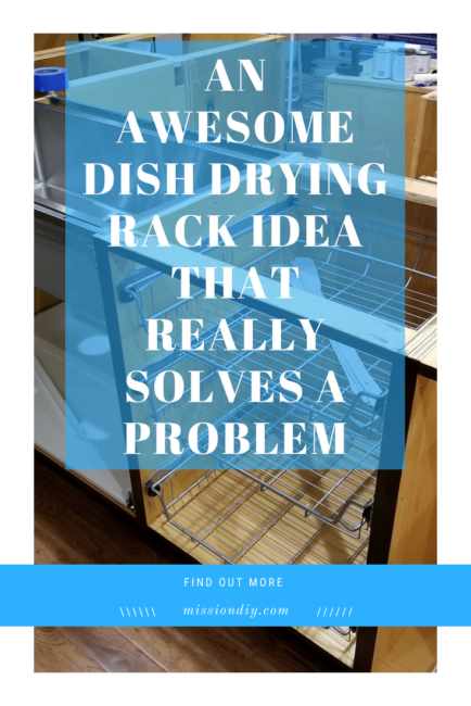 awesome dish drying rack idea that really solves a problem