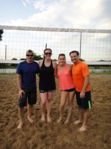 russ and maria sand volleyball team summer