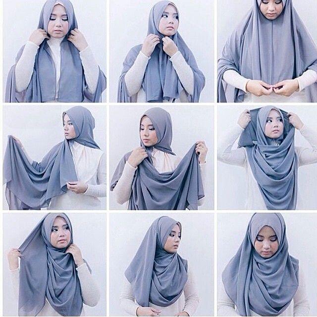 tuturial hijab penutup dada