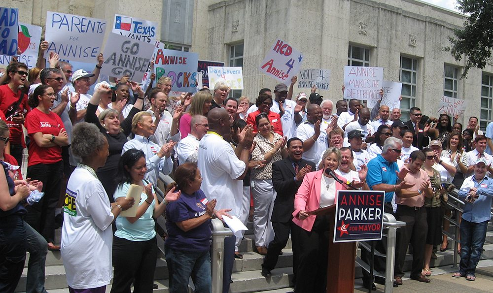 Annise Parker Rally