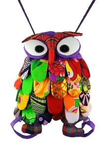 YOURNELO Cute Owl Canvas Backpack