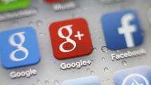 Das Foto zeigt das Logo von Google Plus. (imago / Philipp Szyza)