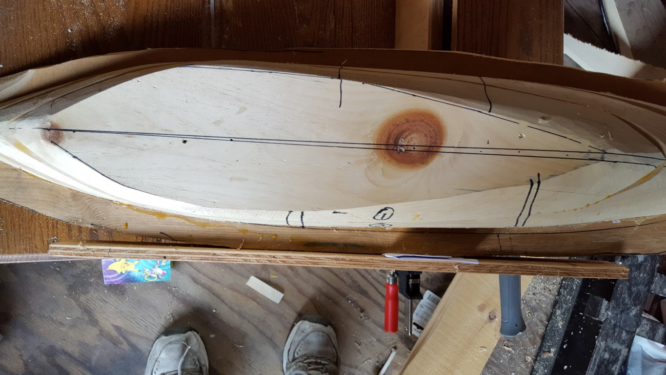 diy rc boat - Attaching a fence guide for the keel cut