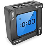 Digital Timer Clock, Alarm Clock with Snooze and Countdown Up Function Cube Timer for Time Management for Students, Kids, Office Meeting, Study, Reading, Yoga, Kitchen Cooking