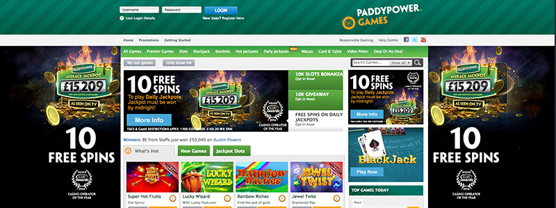 Paddy Power Website Functionality Betting