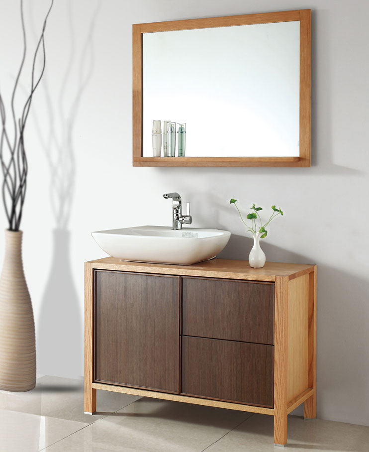 39 inch Contemporary Vessel Sink Bathroom Vanity