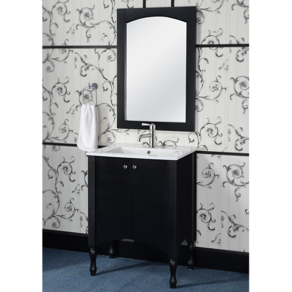 black bathroom vanity light