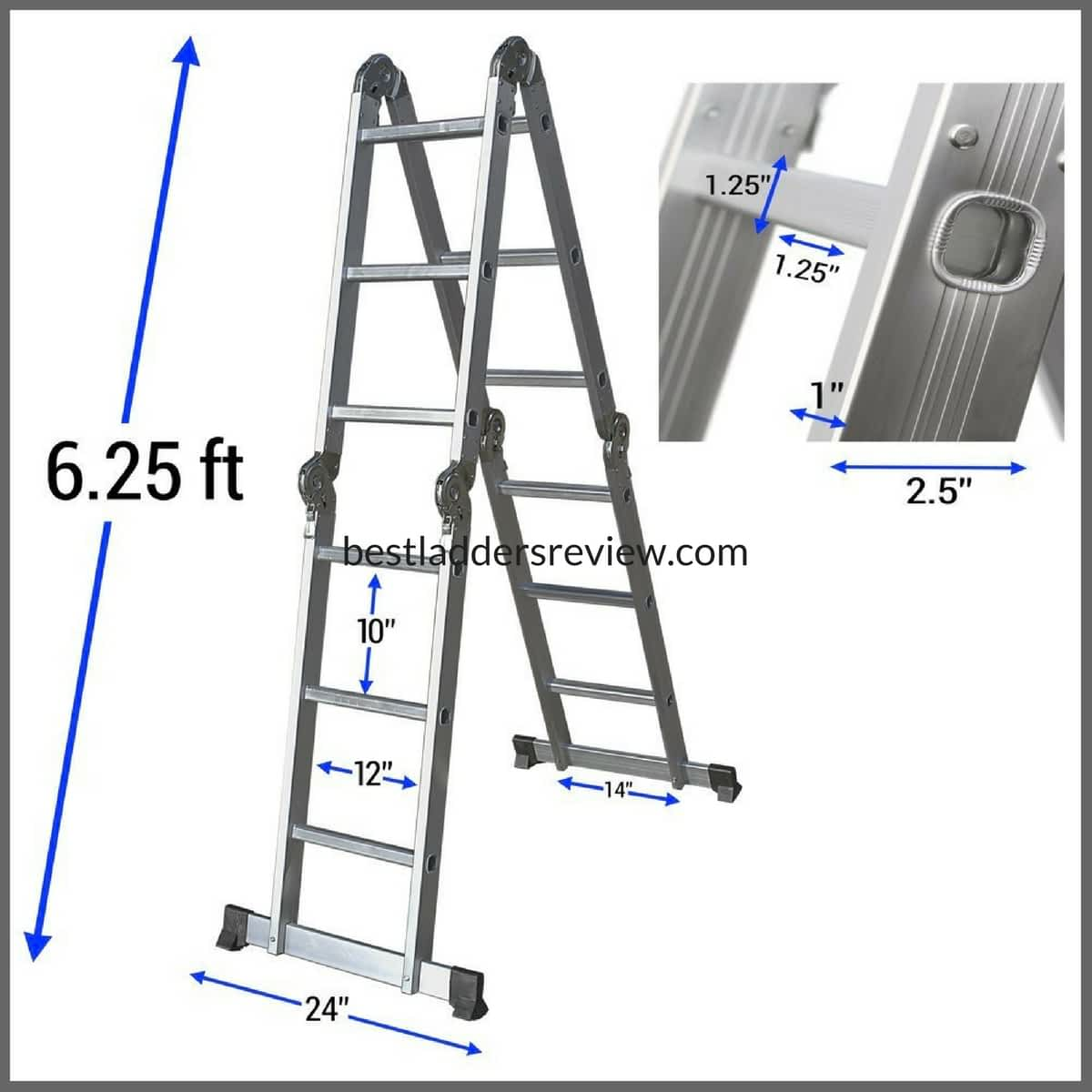 Oxgord Aluminum Folding Scaffold Work Step Ladder | aluminum vs. fiberglass
