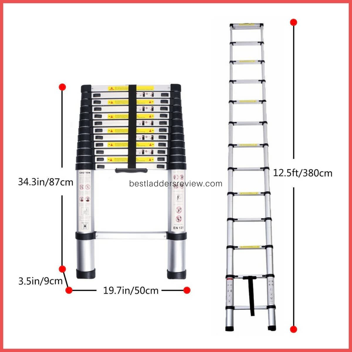 LifeWit 12.5ft Best Telescoping Ladders