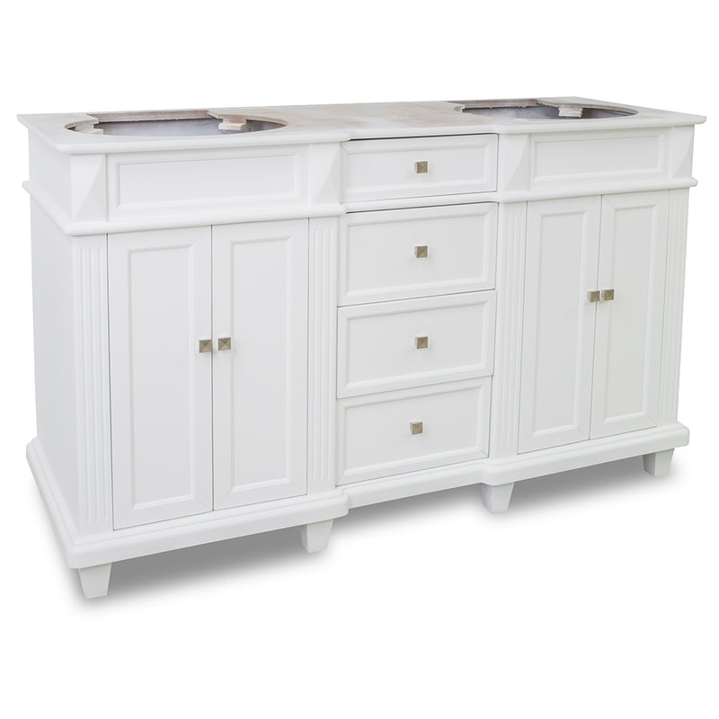 Ace Elements 60 inch Douglas White Bathroom Vanity Cabinet