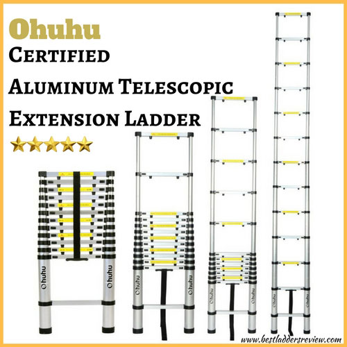 Ohuhu 12.5ft Aluminum Best Telescoping Ladder Review