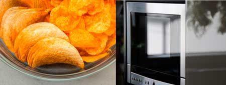 patatas fritas en microondas sin aceite