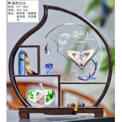 天津狗年3D立体内雕手脚印-手足印-工厂直销-超然出众(三件套)