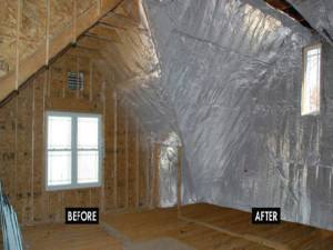 Radiant barriers in attic