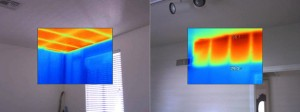 Thermal Imaging - Missing Attic Insulation - Ceiling and walls