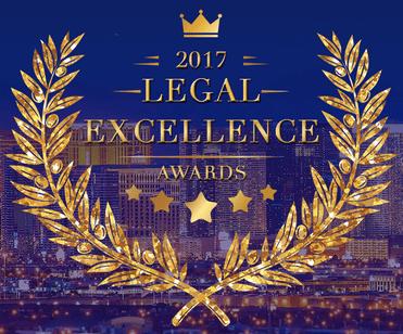 Dallas Horton won the 2017 legal excellance Award as seen in this photo