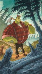 Alien Lumberjack by RobbVision