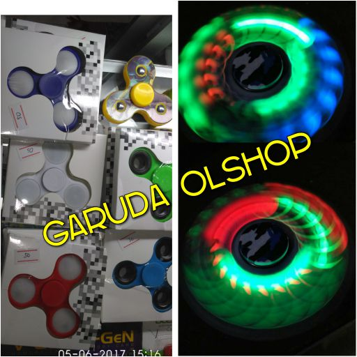 fidget spinner lampu