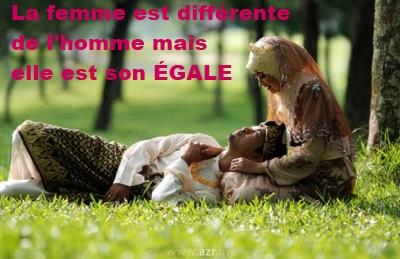 la femme est différente de l'homme mais elle est son égale