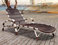 藤制沙滩椅 室外晒太阳躺椅