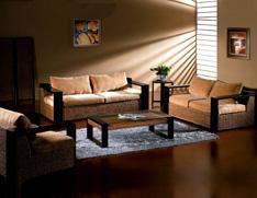 木扶手沙发