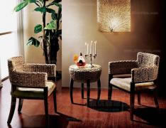 书房休闲桌椅组合 室内阳台午茶桌椅 编藤休闲桌椅