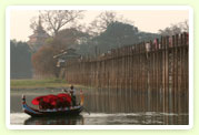 Focus on Myanmar : Taungthaman Lake and U Bein(wooden bridge) Bridge