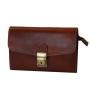 Luxusná kožená etuja č.8335, viacúčelové púzdro v hnedej farbe (2)