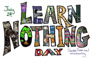 Learn Nothing Day art