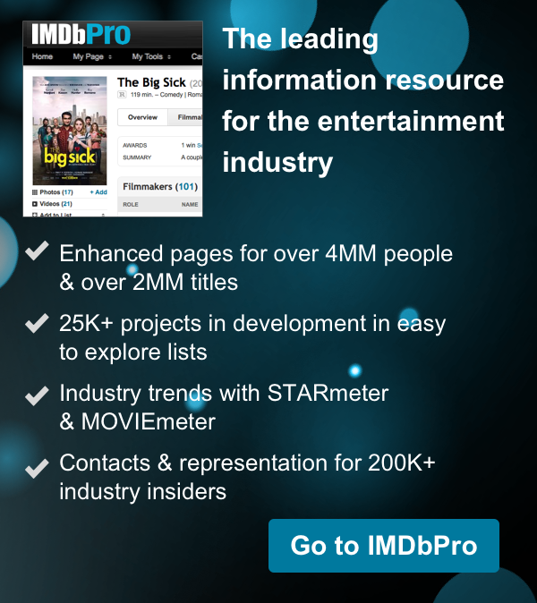 Get industry info at IMDbPro