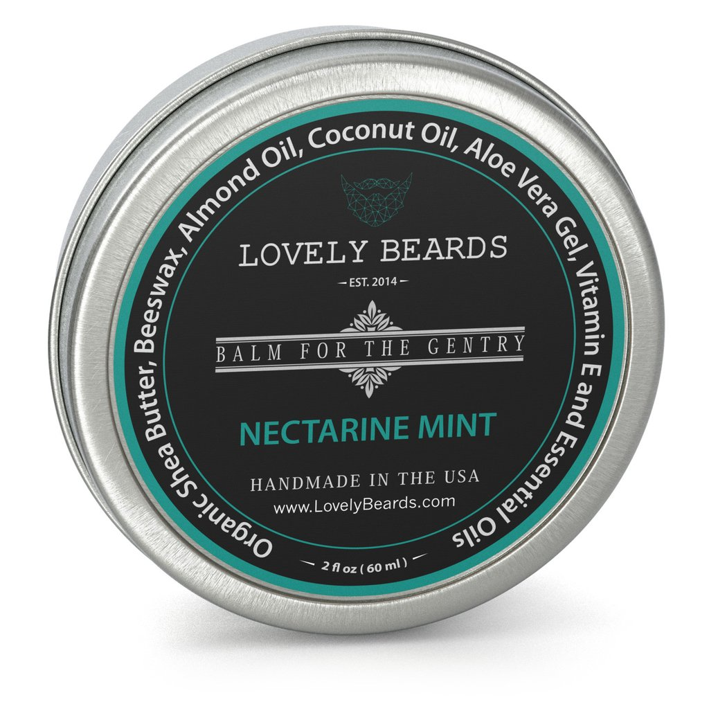 LovelyBeards Nectarine Mint Beard Balm