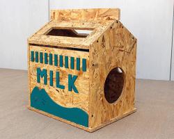 实木牛奶盒