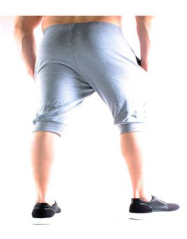 Pantacourt jogging gris pas cher