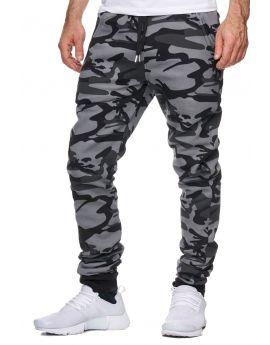 Jogging homme coton camouflage noir