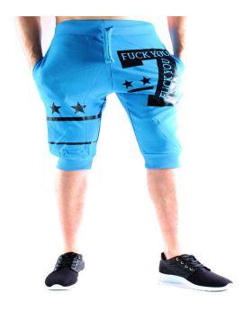 Pantacourt jogging bleu