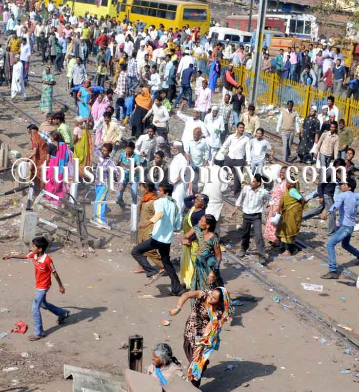 Bhopal gas survival protest in Bhopal