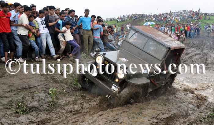 Mud challenge rally in Bhopal 2