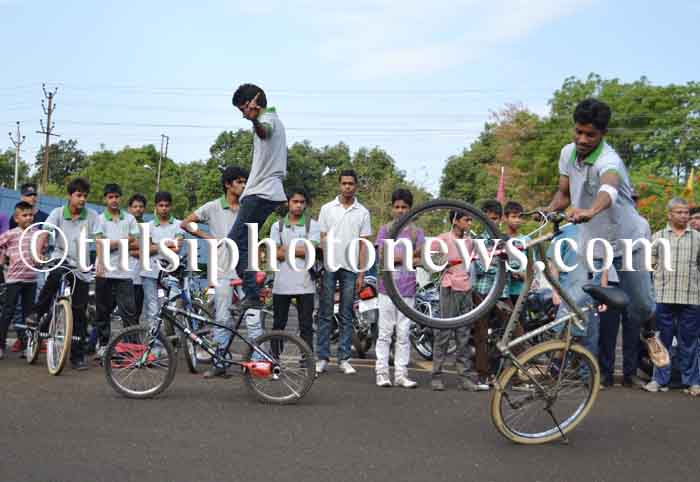 bicycle stunt in Bhopal 2