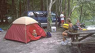 ginnie springs wilderness camping sites
