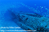 U352 Submarine underwater photo