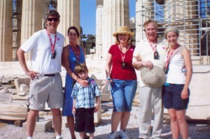 With family in Athens