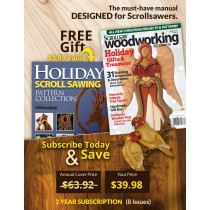 Scroll Saw Woodworking Crafts 2 Year Subscription USA