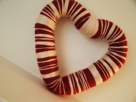 I Heart You Yarn Wreath