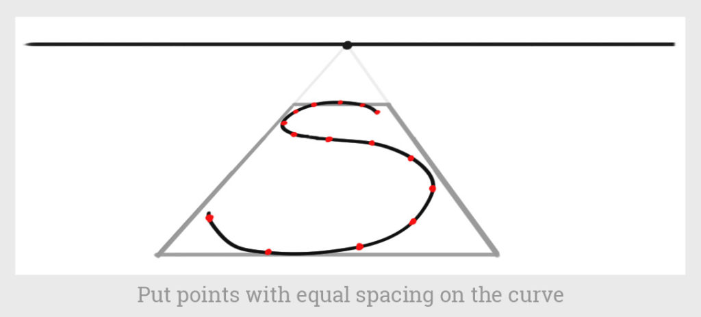 points with equal spacing