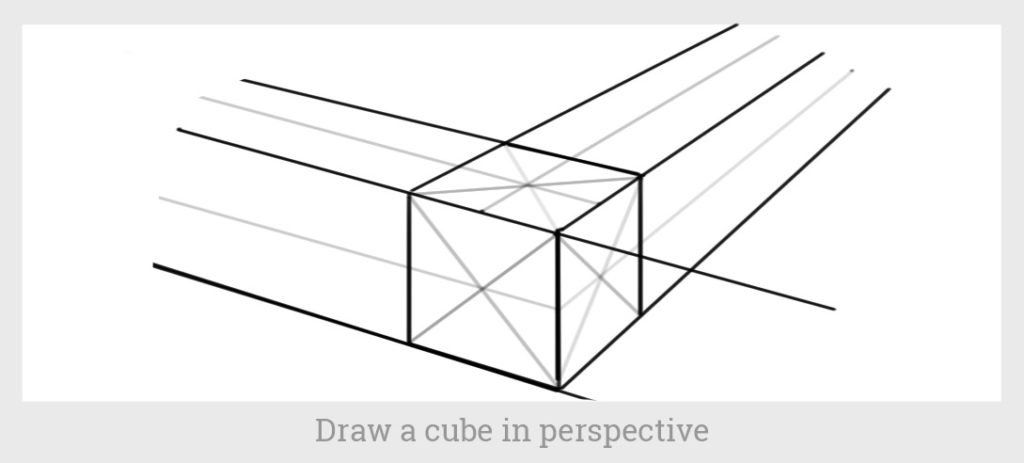 cube in perspective