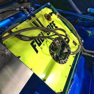 "In the words of DJ Khaled: ""ANOTHER ONE!"" Masterpiece by @mp_gymkhana  complete neon yellow powder coated FIA 3.5 Certified 15 gal. Spectra-Lite fuel cell featuring Radium Engineering's FCST."