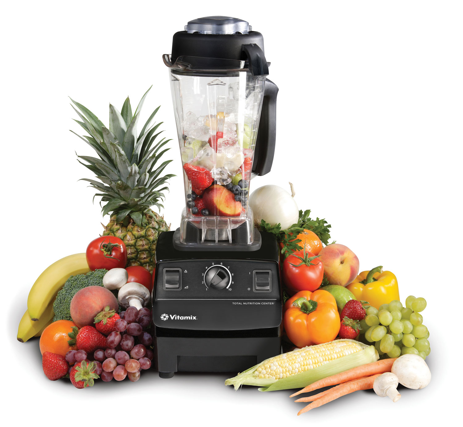 The viamix and blendtec blenders both have manual speed control