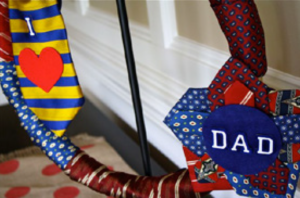 Fathers Day Tie Wreath 7